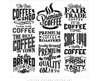 Best Coffee Collection Vector