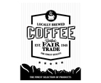 Coffee Bean Logo Vector