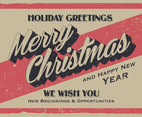 Vintage Merry Christmas Sign Vector