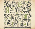 Green Numbers Collection Vector