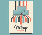 Tech Vintage Background Vector