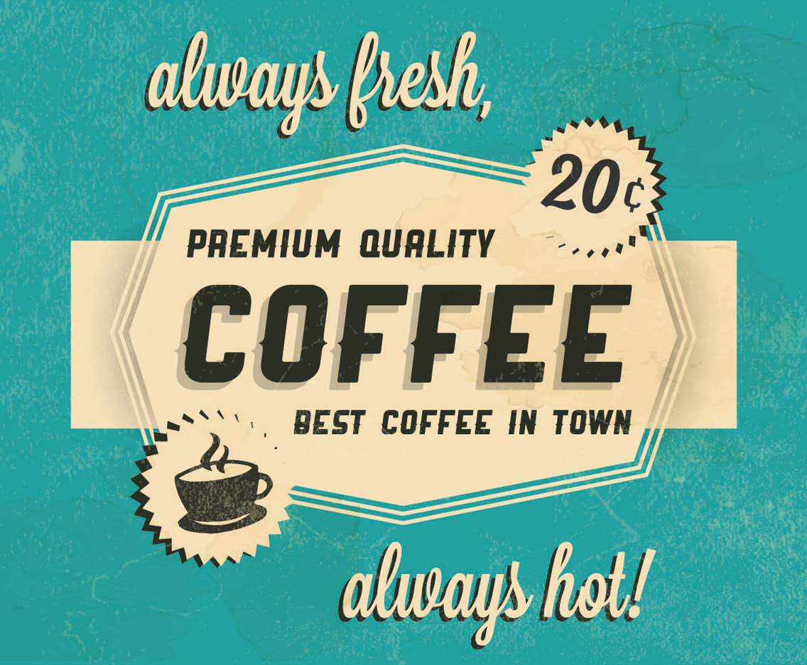 Hot Coffee Logo Vector