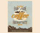 Certified Free Trade Coffee Vector