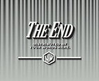 The End Black and White Curtains Vector