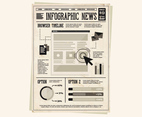 Newspaper Newsletter Vector