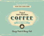 1960s Coffee Logo Vector