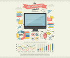 Monitor Infographics Collection Vector