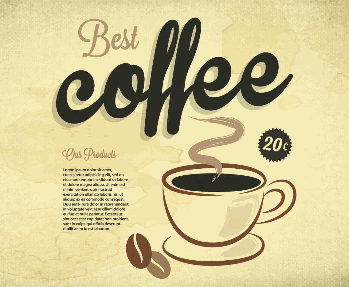 Best Coffee Vintage Vector