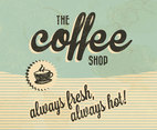 The Coffee Shop Retro Vector