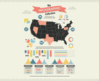 US Map Infographic Vector