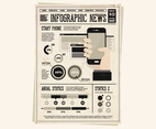 Newspaper Handheld Device Vector