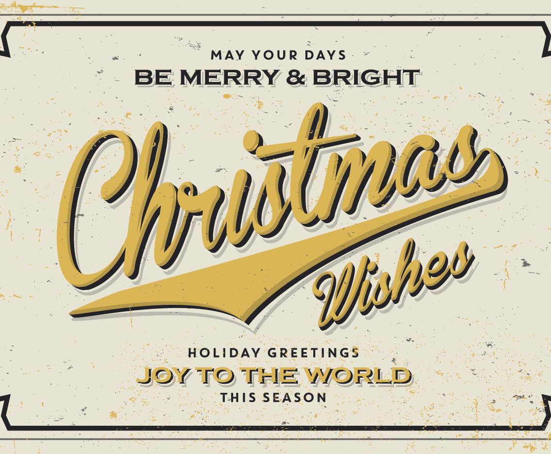 Golden Christmas Wishes Vector