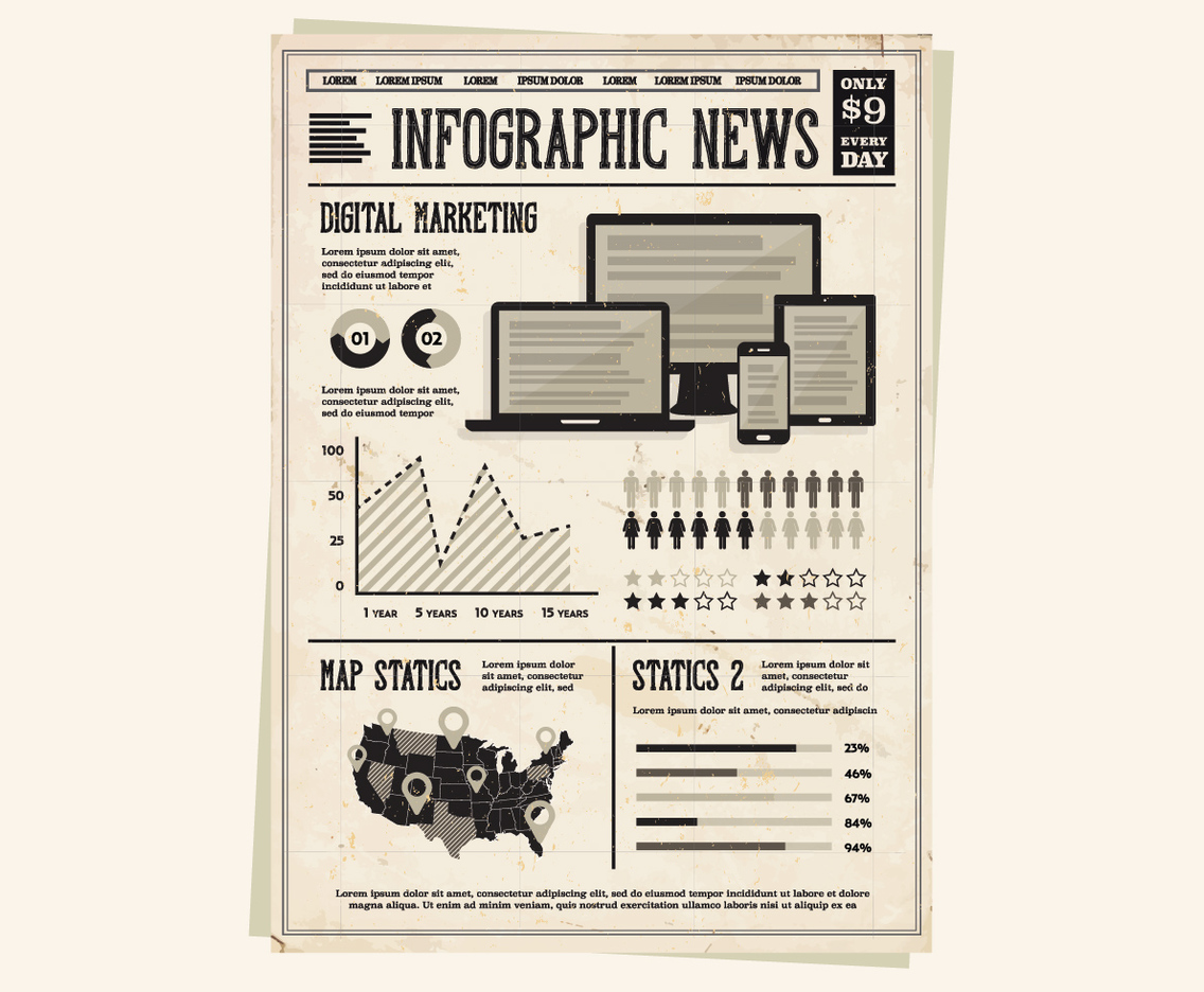 Newspaper Technology Vector