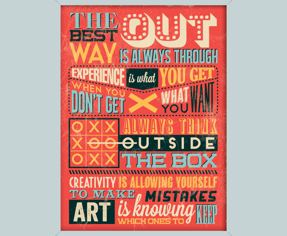 Creativity Inspirational Poster