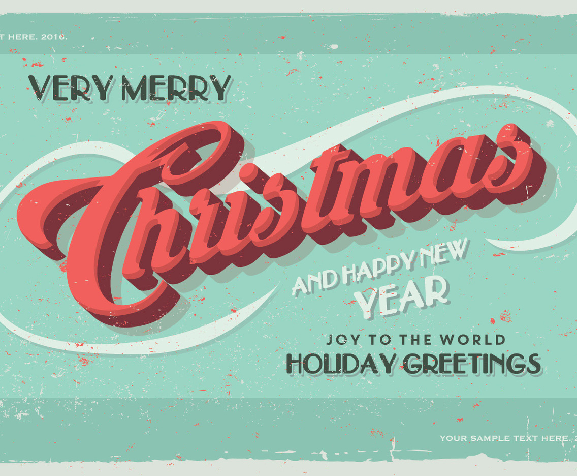 Joy to the World Postcard Vector