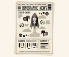 Newspaper Rocket Vector