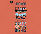 Retro Marquee-Style Holiday Vector
