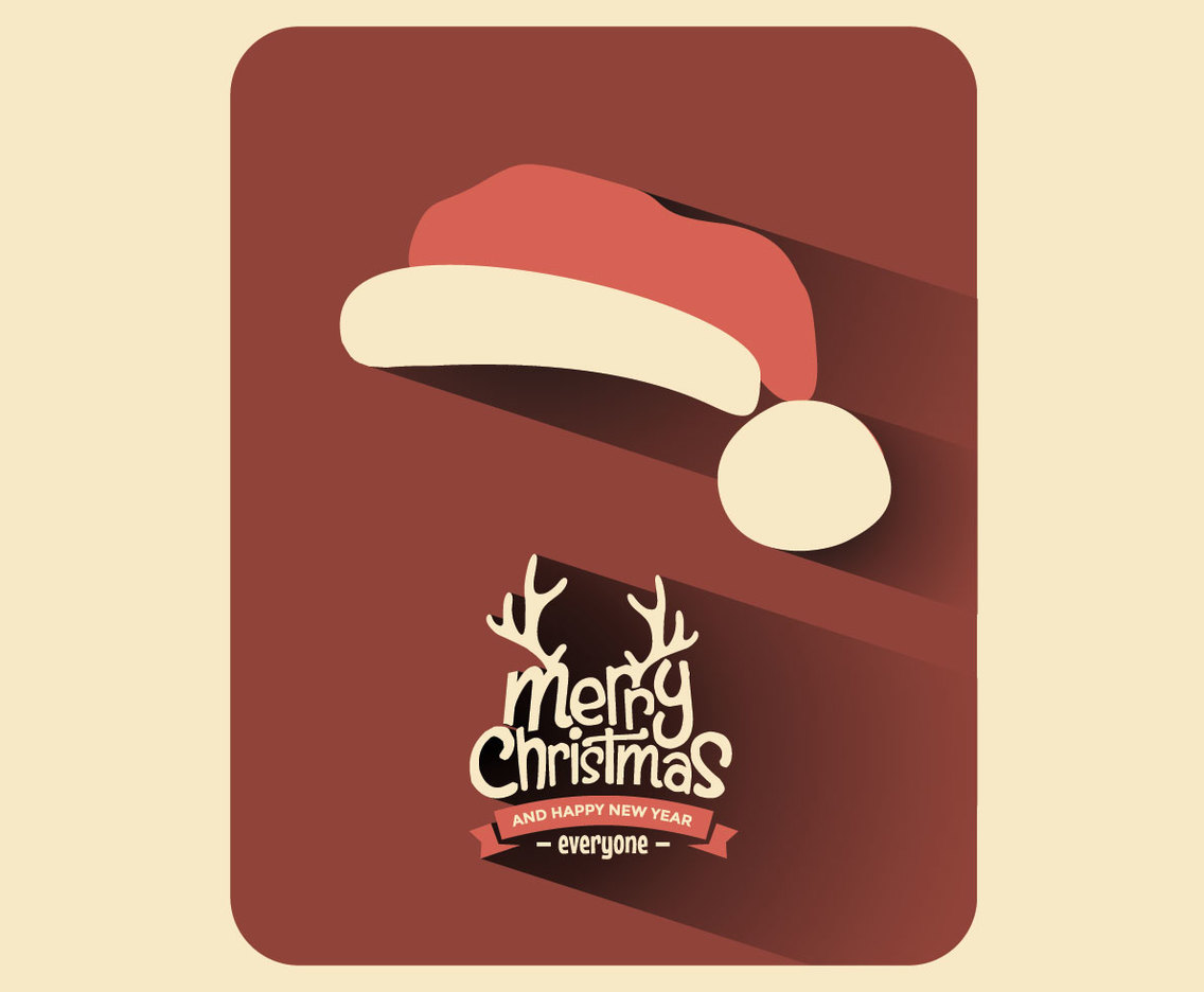 Santa Hat Christmas Card Vector