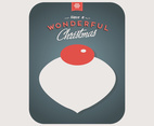 Wonderful Christmas Ornament Vector