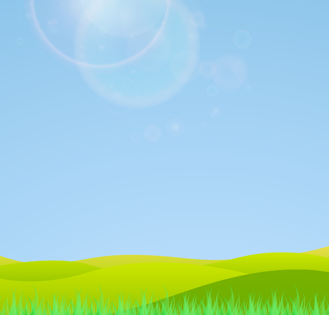 Afternoon Landscape Vector