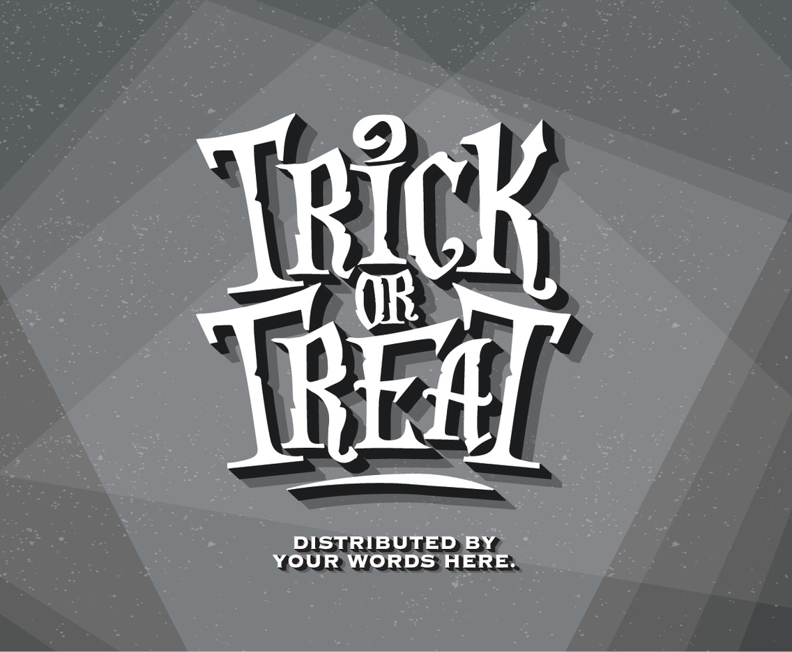 Trick-or-Treat Old Film Vector