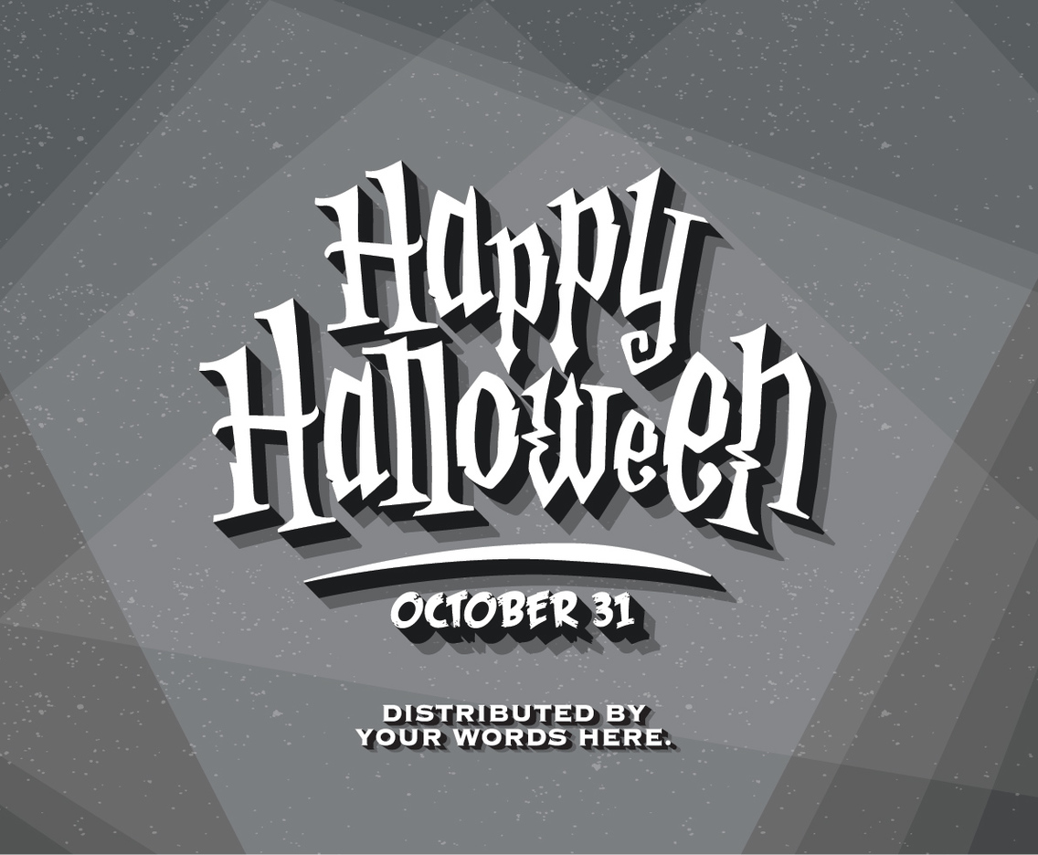 Halloween Vintage Title Card