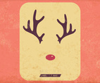 Antlers And Red Nose Vector