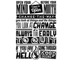Black and White Inspirational Vector