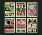 Positivity Posters Vector