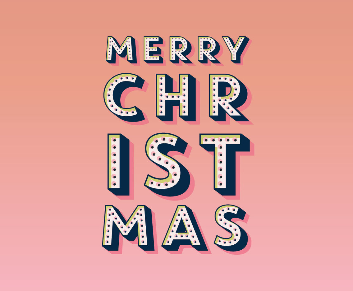 Merry Christmas Marquee Vector