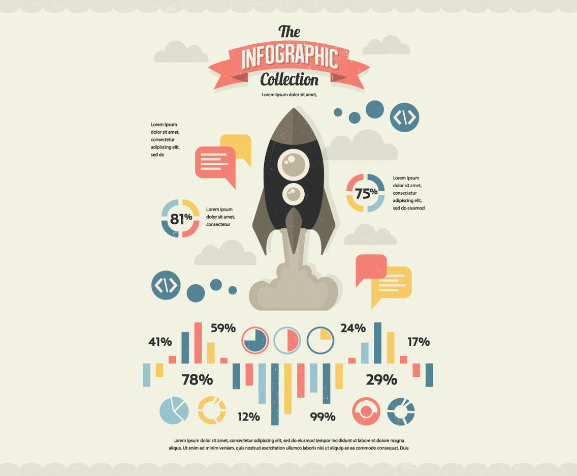 NASA Infographic Collection Vector