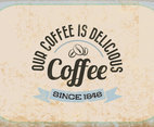 Vintage Delicious Coffee Vector