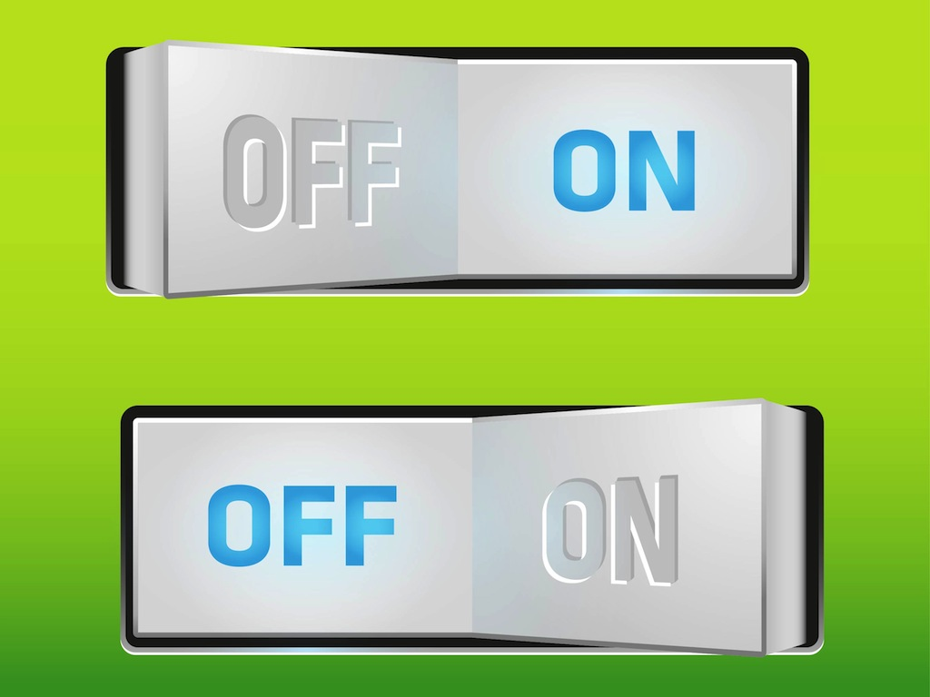 On off switch vector art graphics - Devices burn energy even turned off ...