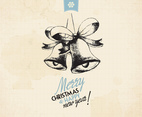Vintage Holiday Jingle Bells Vector