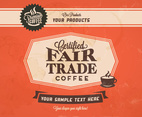 Fair Trade Coffee Classic Vector