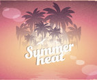 Retro Summer Heat Poster