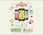 Mobile Search Infographics Collection Vector