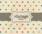 Vintage Rainbow Dot Pattern Vector