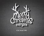 Christmas Vintage Title Card Vector