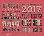 Retro Holiday Sign Vector