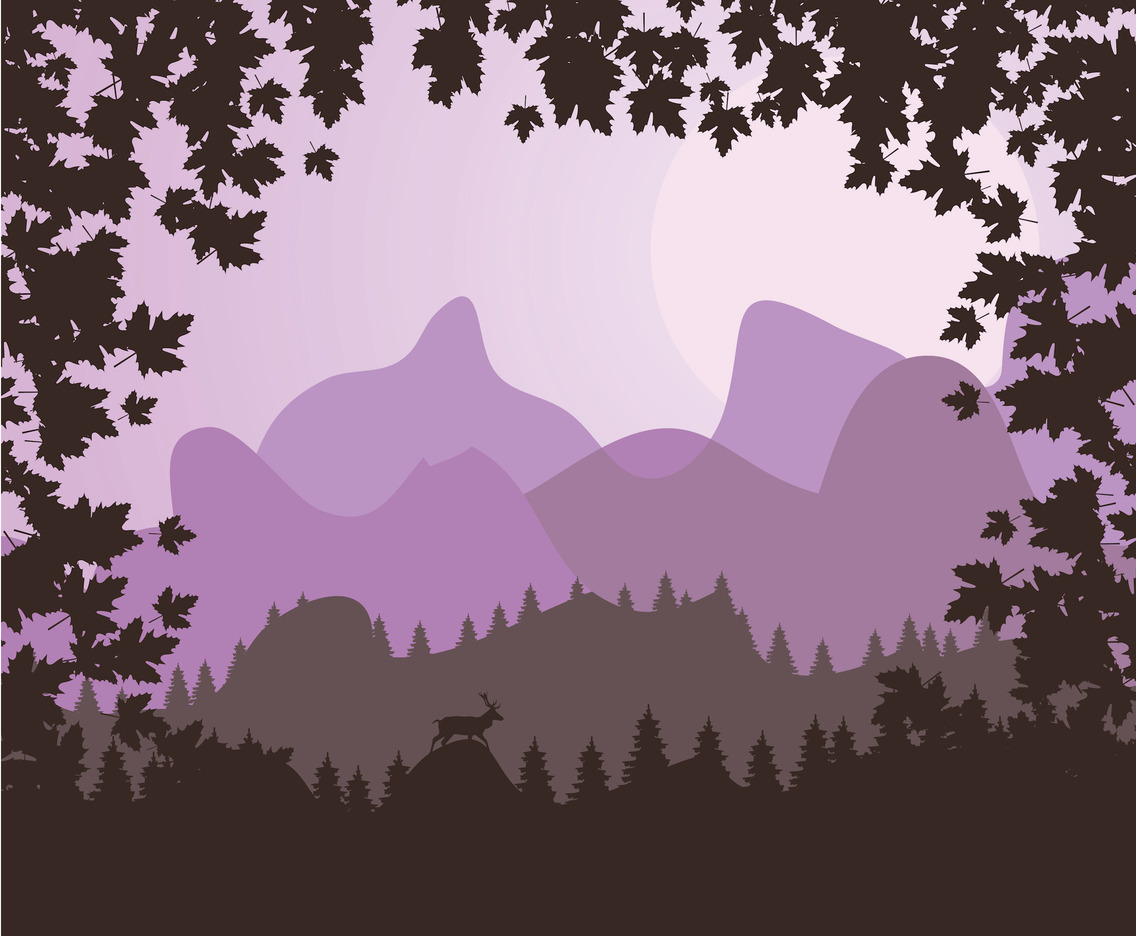 Purple Forest Background Vector