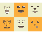 Free Cute Adorable Faces Vector