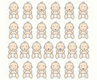 Baby Cartoon Emoticon Vectors
