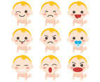 Free Baby Cartoon Icons Vectors
