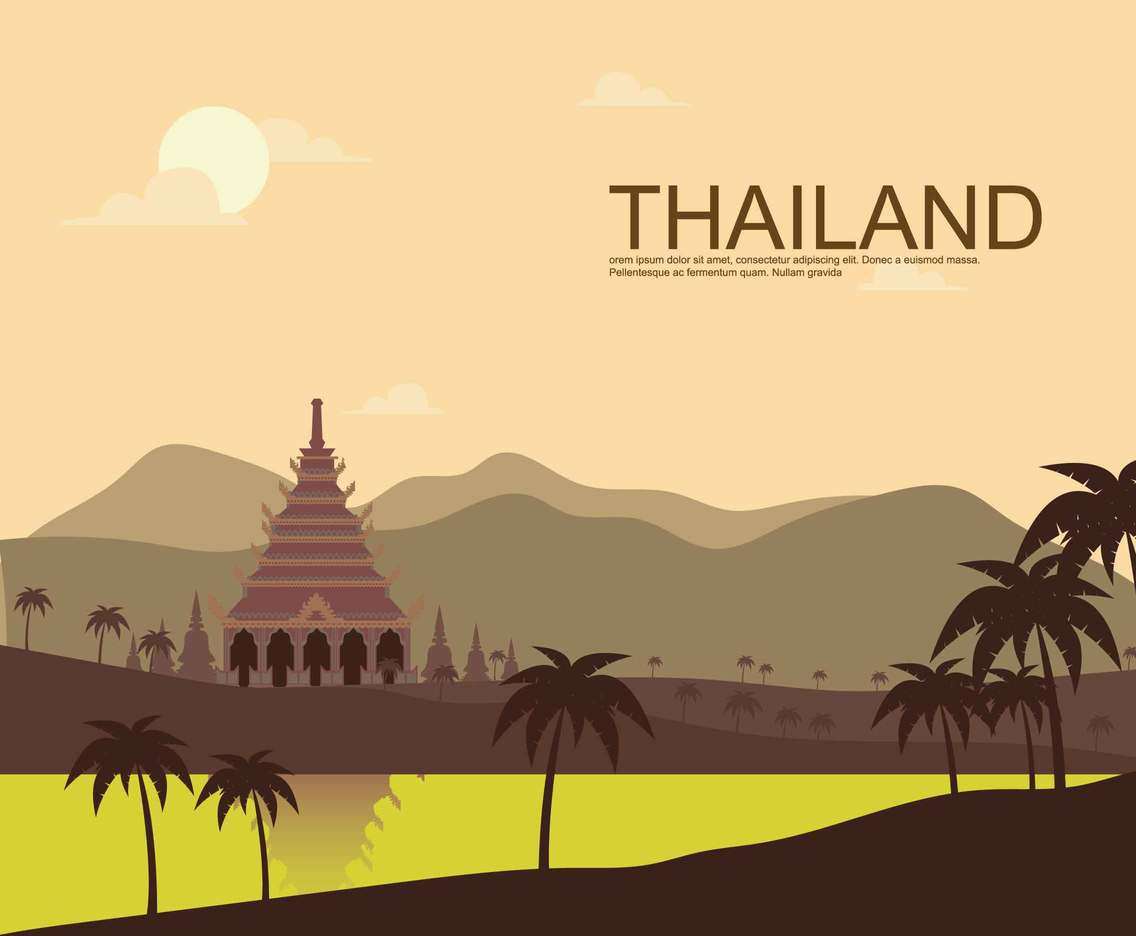 Free Thai landmark Illustration