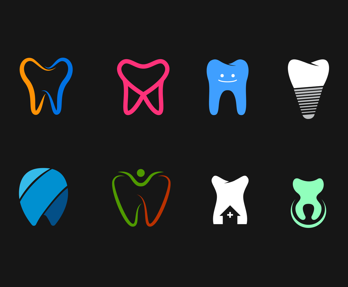 Simple And Smart Dental Logo Vector