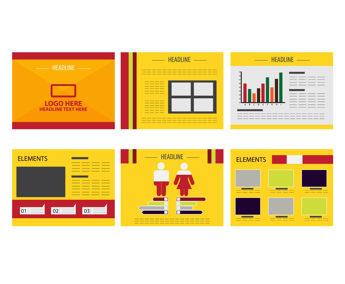 free printable calanders yellow powerpoint presentation design vector 21866