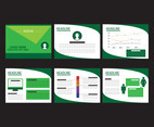 Green Powerpoint Presentation Vectors