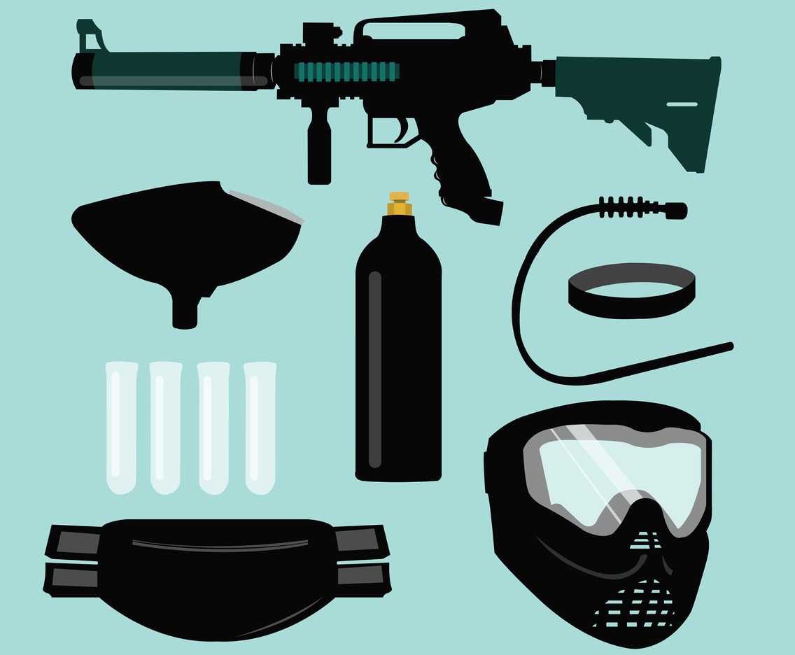 Paintball Equipment Vector Pack