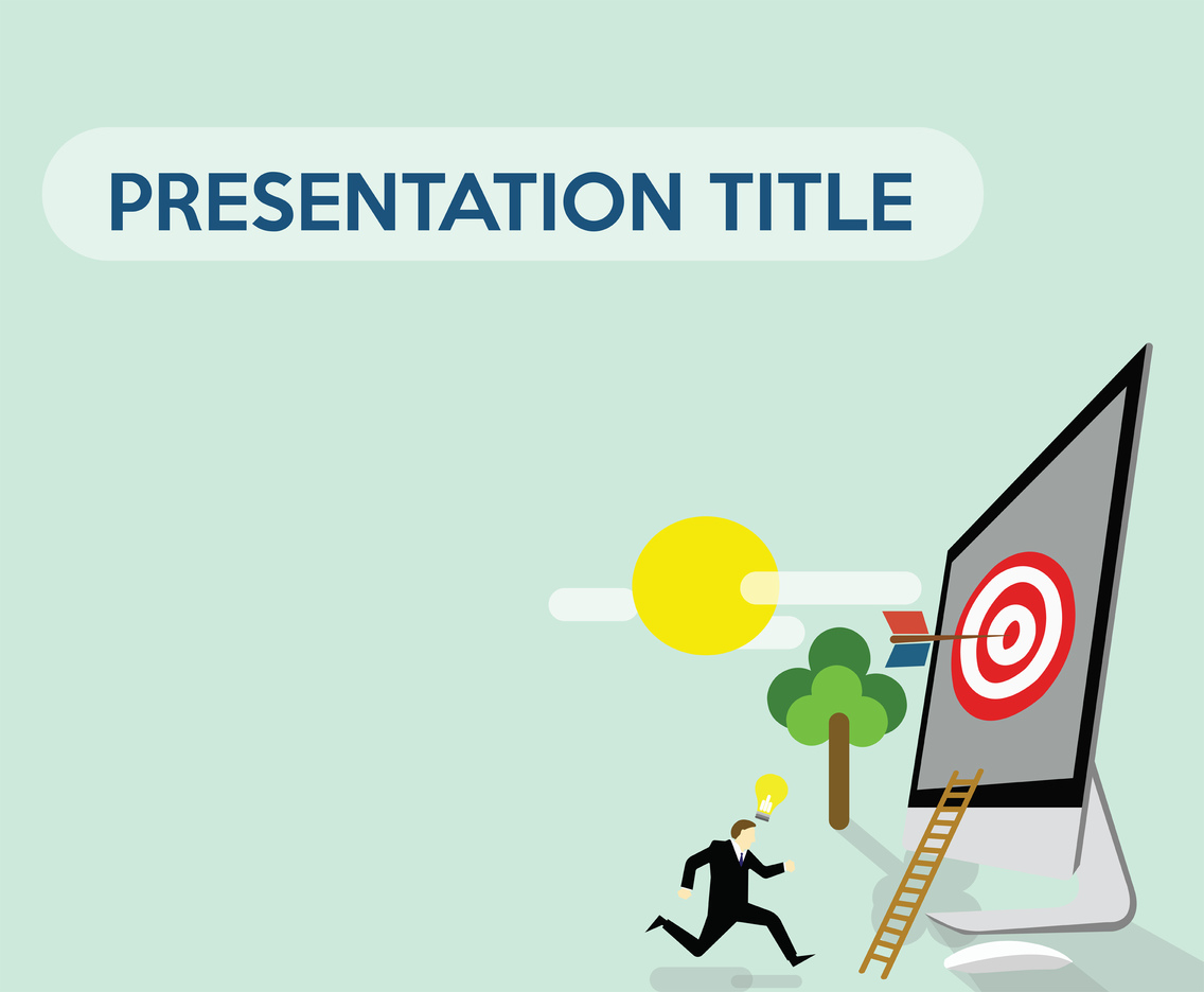 Business Concept Powerpoint Background Vector